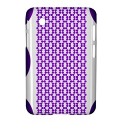 River Hyacinth Polka Circle Round Purple White Samsung Galaxy Tab 2 (7 ) P3100 Hardshell Case  by Mariart