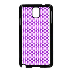 River Hyacinth Polka Circle Round Purple White Samsung Galaxy Note 3 Neo Hardshell Case (black) by Mariart