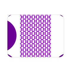 River Hyacinth Polka Circle Round Purple White Double Sided Flano Blanket (mini)  by Mariart