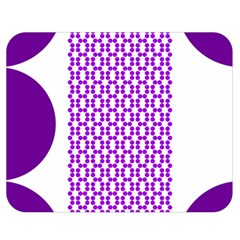 River Hyacinth Polka Circle Round Purple White Double Sided Flano Blanket (medium)  by Mariart