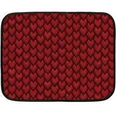 Red Snakeskin Snak Skin Animals Fleece Blanket (mini) by Mariart