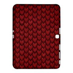 Red Snakeskin Snak Skin Animals Samsung Galaxy Tab 4 (10 1 ) Hardshell Case  by Mariart