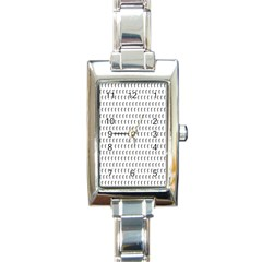 Renelle Box Waves Chevron Wave Line Rectangle Italian Charm Watch by Mariart