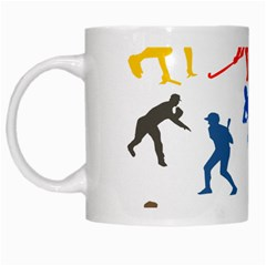 Sport Player Playing White Mugs by Mariart