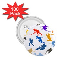Sport Player Playing 1 75  Buttons (100 Pack)  by Mariart