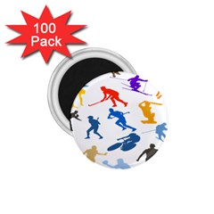 Sport Player Playing 1 75  Magnets (100 Pack)  by Mariart