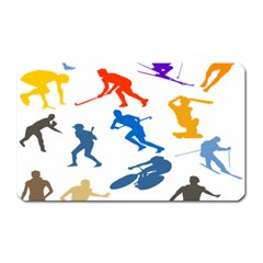 Sport Player Playing Magnet (rectangular) by Mariart