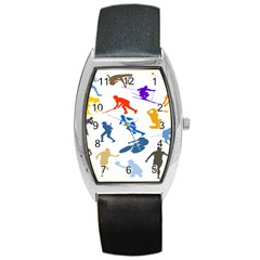 Sport Player Playing Barrel Style Metal Watch by Mariart