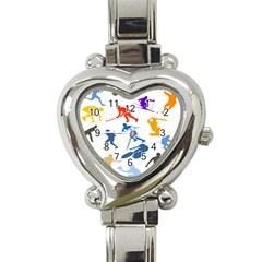 Sport Player Playing Heart Italian Charm Watch by Mariart