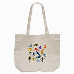 Sport Player Playing Tote Bag (cream) by Mariart