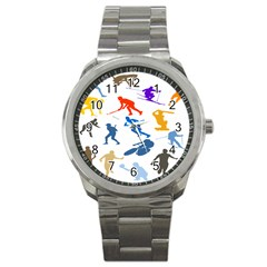 Sport Player Playing Sport Metal Watch by Mariart