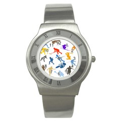 Sport Player Playing Stainless Steel Watch by Mariart