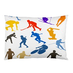 Sport Player Playing Pillow Case by Mariart