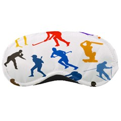 Sport Player Playing Sleeping Masks by Mariart