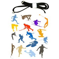Sport Player Playing Shoulder Sling Bags by Mariart