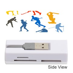 Sport Player Playing Memory Card Reader (stick)  by Mariart