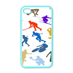 Sport Player Playing Apple Iphone 4 Case (color) by Mariart