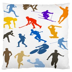 Sport Player Playing Large Cushion Case (one Side) by Mariart