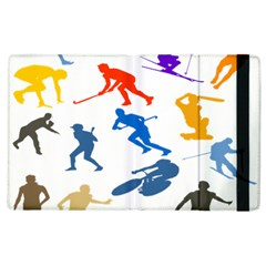 Sport Player Playing Apple Ipad 2 Flip Case by Mariart