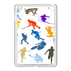Sport Player Playing Apple Ipad Mini Case (white) by Mariart