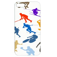 Sport Player Playing Apple Iphone 5 Hardshell Case With Stand by Mariart
