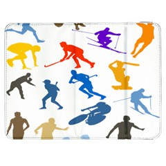 Sport Player Playing Samsung Galaxy Tab 7  P1000 Flip Case by Mariart