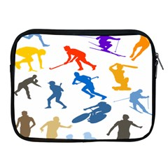Sport Player Playing Apple Ipad 2/3/4 Zipper Cases by Mariart