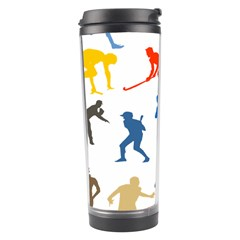 Sport Player Playing Travel Tumbler by Mariart