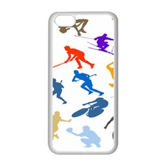 Sport Player Playing Apple Iphone 5c Seamless Case (white) by Mariart