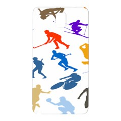 Sport Player Playing Samsung Galaxy Note 3 N9005 Hardshell Back Case by Mariart