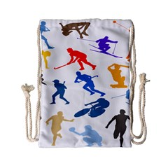 Sport Player Playing Drawstring Bag (small) by Mariart