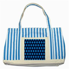 Star Blue Space Wave Chevron Sky Striped Blue Tote Bag by Mariart