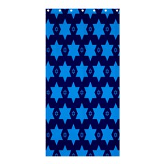 Star Blue Space Wave Chevron Sky Shower Curtain 36  X 72  (stall)  by Mariart