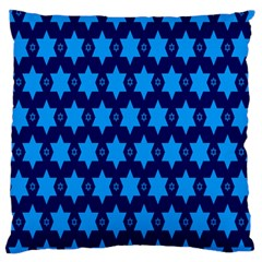 Star Blue Space Wave Chevron Sky Large Flano Cushion Case (one Side) by Mariart