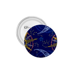 Sun Moon Seamless Star Blue Sky Space Face Circle 1 75  Buttons by Mariart