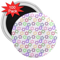 Star Space Color Rainbow Pink Purple Green Yellow Light Neons 3  Magnets (100 Pack) by Mariart