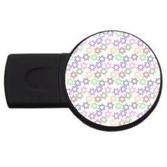 Star Space Color Rainbow Pink Purple Green Yellow Light Neons Usb Flash Drive Round (2 Gb) by Mariart