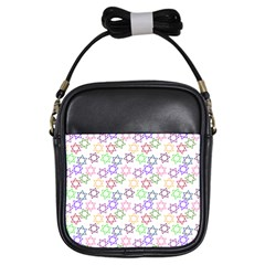 Star Space Color Rainbow Pink Purple Green Yellow Light Neons Girls Sling Bags by Mariart