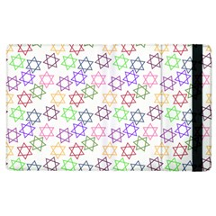 Star Space Color Rainbow Pink Purple Green Yellow Light Neons Apple Ipad 2 Flip Case by Mariart