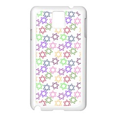 Star Space Color Rainbow Pink Purple Green Yellow Light Neons Samsung Galaxy Note 3 N9005 Case (white) by Mariart