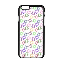 Star Space Color Rainbow Pink Purple Green Yellow Light Neons Apple Iphone 6/6s Black Enamel Case by Mariart