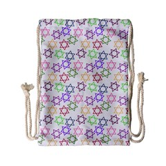 Star Space Color Rainbow Pink Purple Green Yellow Light Neons Drawstring Bag (small) by Mariart