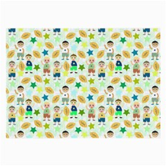 Kids Football Players Playing Sports Star Large Glasses Cloth by Mariart