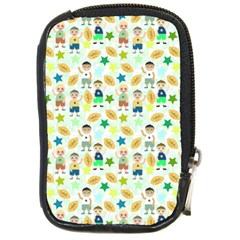 Kids Football Players Playing Sports Star Compact Camera Cases by Mariart