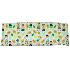 Kids Football Players Playing Sports Star Body Pillow Case Dakimakura (two Sides) by Mariart