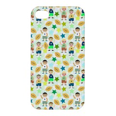 Kids Football Players Playing Sports Star Apple Iphone 4/4s Premium Hardshell Case
