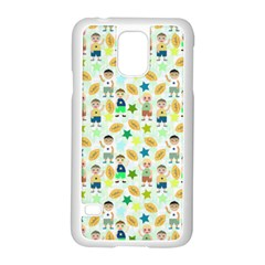 Kids Football Players Playing Sports Star Samsung Galaxy S5 Case (white) by Mariart
