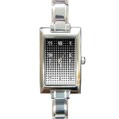 Triangle Black White Wave Chevron Rectangle Italian Charm Watch by Mariart