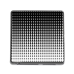 Triangle Black White Wave Chevron Memory Card Reader (square) by Mariart
