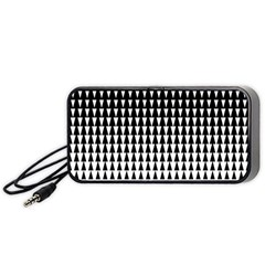 Triangle Black White Wave Chevron Portable Speaker (black) by Mariart